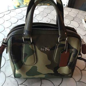 Coach camo crossbody handbag
